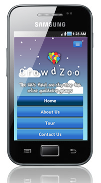 screen shot of Crowdzooh