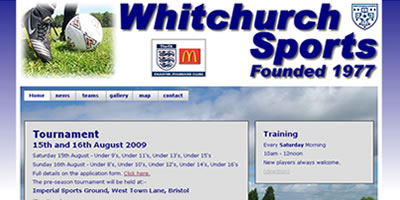 screen shot of whitchurch sports